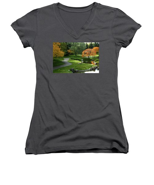 A Walk In The Garden Women's V-Neck (Athletic Fit)