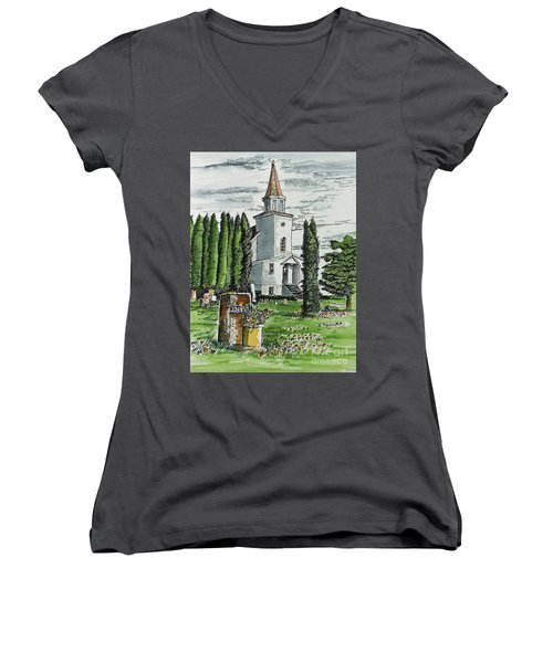 A Wisconsin Beauty Women's V-Neck T-Shirt (Junior Cut) by Terry Banderas