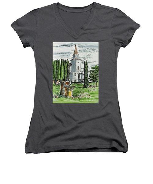 A Wisconsin Beauty Women's V-Neck T-Shirt (Junior Cut) by Terry Banderas