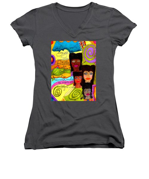 A Woman Oughta Know... Women's V-Neck
