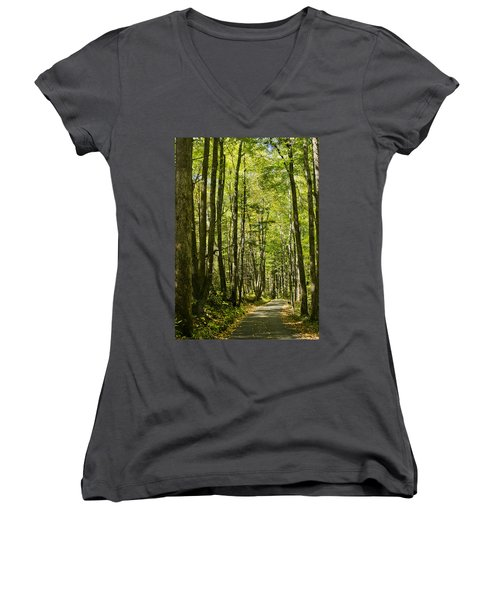 A Woodsy Trail Women's V-Neck
