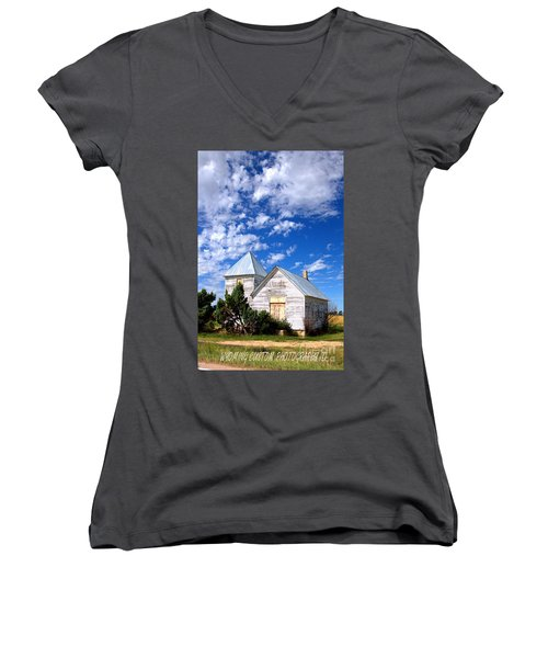 Abandoned Building Women's V-Neck (Athletic Fit)