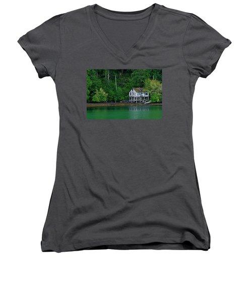 Abandoned Dreams Women's V-Neck T-Shirt (Junior Cut) by Inge Riis McDonald