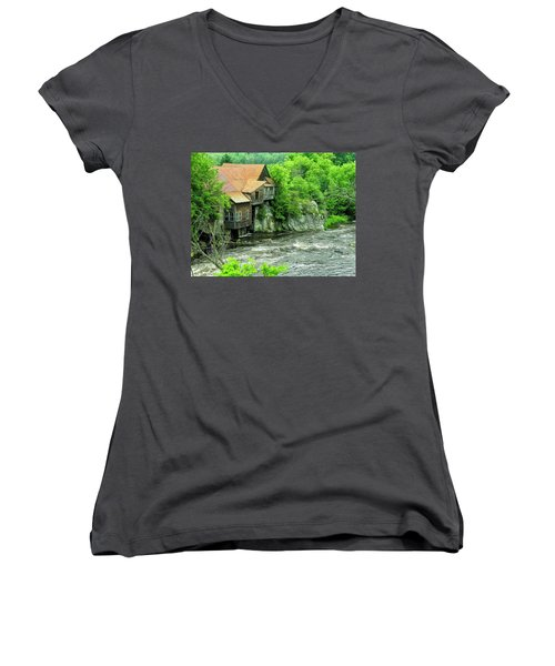 Abandoned Home By The River Women's V-Neck