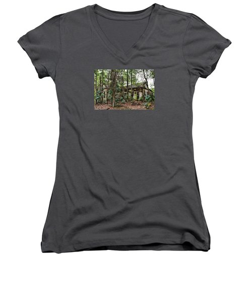 Abandoned House In Alabama Women's V-Neck (Athletic Fit)