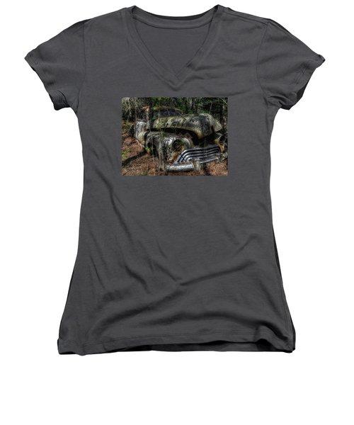 Abandoned In Helvetia Women's V-Neck T-Shirt