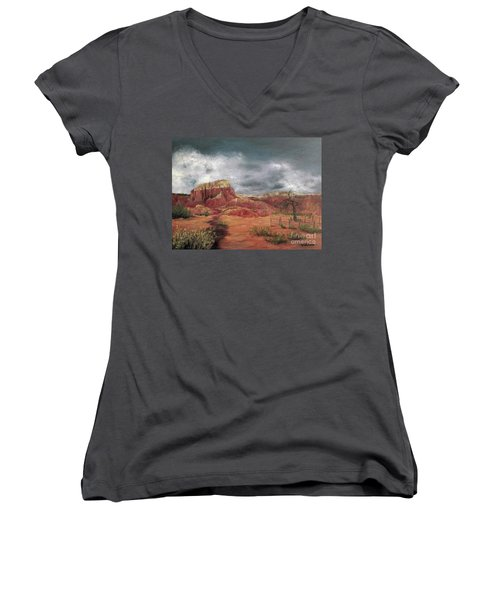 Abandoned  Ranch Women's V-Neck (Athletic Fit)