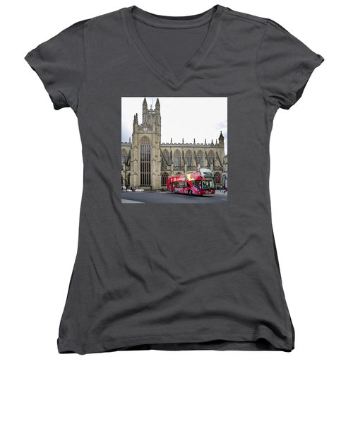 Abbey In Bath, Uk Women's V-Neck (Athletic Fit)