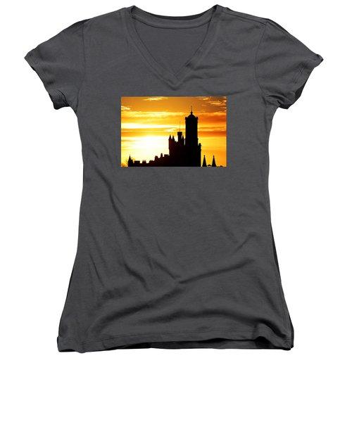 Aberdeen Silhouettes - Landscape Women's V-Neck T-Shirt