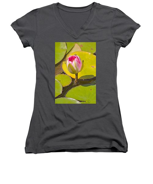 About To Bloom Women's V-Neck T-Shirt