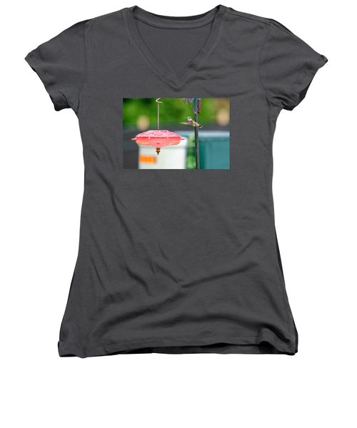 About To Land Women's V-Neck