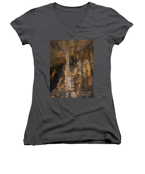 Above And Below In Luray Caverns Women's V-Neck