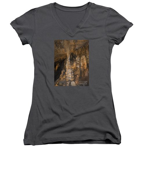 Above And Below In Luray Caverns Women's V-Neck T-Shirt