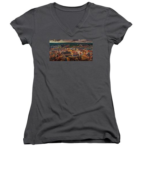 Above Strasbourg Women's V-Neck