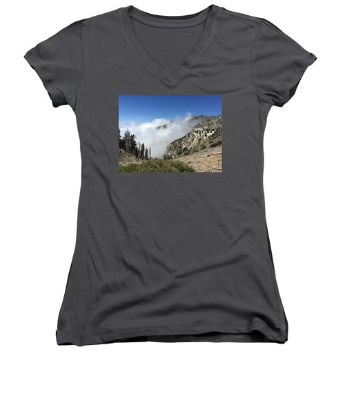 Above The Clouds Women's V-Neck T-Shirt