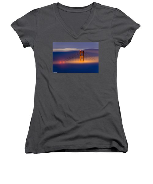 Above The Fog Women's V-Neck