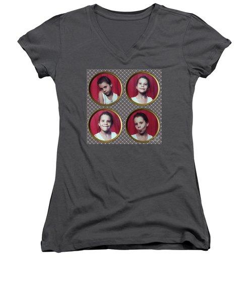 Abra Women's V-Neck T-Shirt (Junior Cut) by Megan Dirsa-DuBois