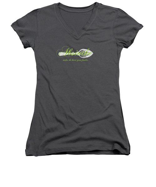 Absinthe Makes The Heart Grow Fonder - T-shirt Women's V-Neck T-Shirt (Junior Cut) by Robert J Sadler