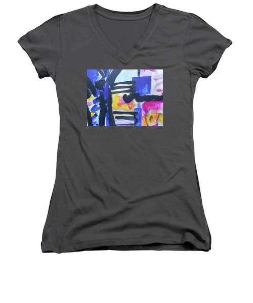 Abstract-16 Women's V-Neck