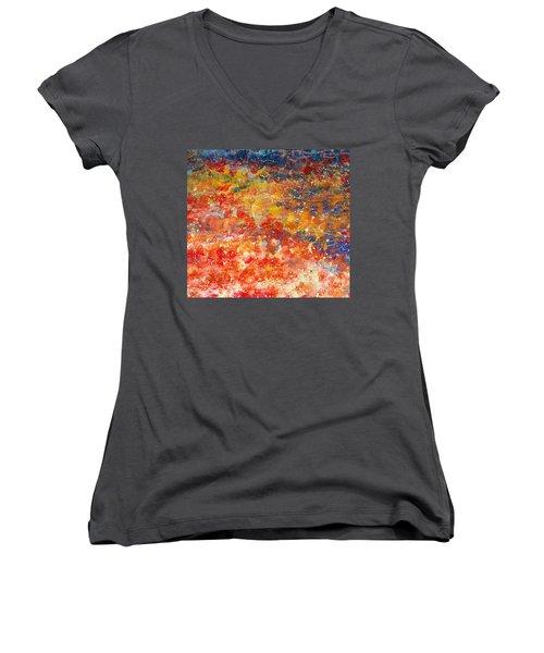 Abstract 2. Women's V-Neck T-Shirt