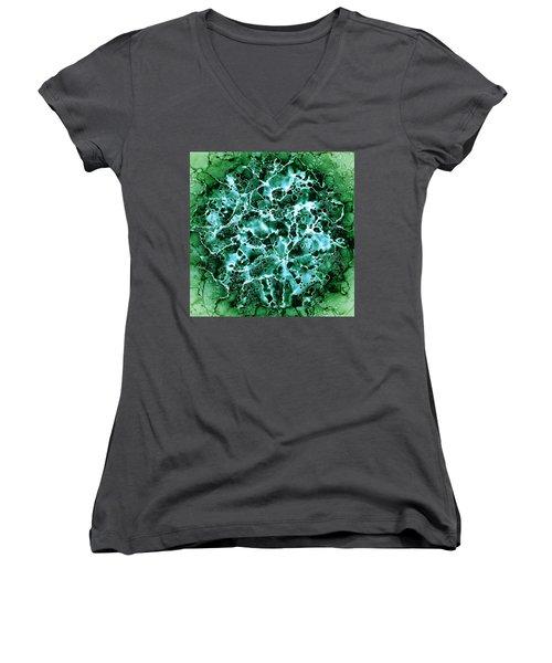 Abstract 3 Women's V-Neck T-Shirt