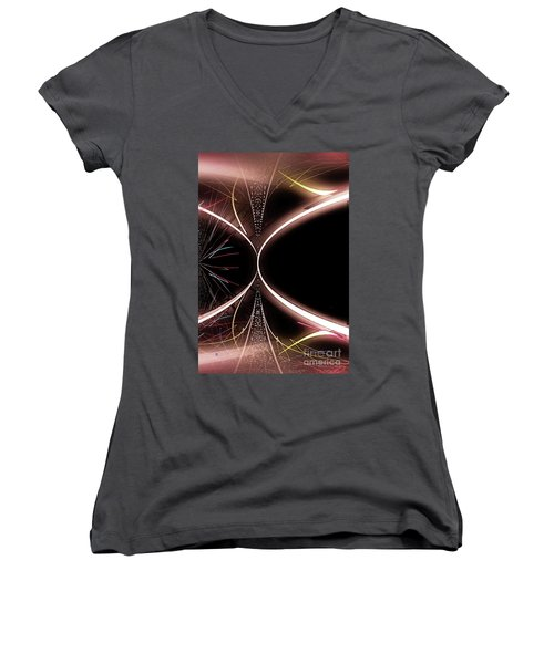 Abstract 302-2015 Women's V-Neck (Athletic Fit)