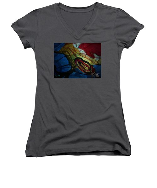 Abstract-31 Women's V-Neck