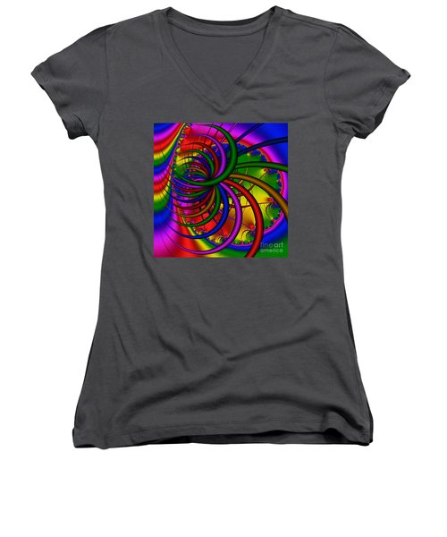 Abstract 523 Women's V-Neck