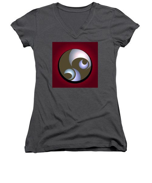 Abstract 8 2017 Women's V-Neck (Athletic Fit)