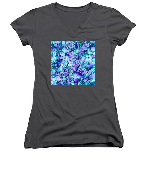 Abstract 8 Women's V-Neck T-Shirt (Junior Cut) by Patricia Lintner