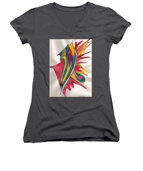 Abstract Art 102 Women's V-Neck