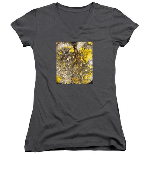 Abstract Art Seen In Parking Lot Women's V-Neck T-Shirt (Junior Cut) by Sandra Church