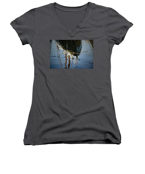 Abstract Boat Reflection IIi Women's V-Neck