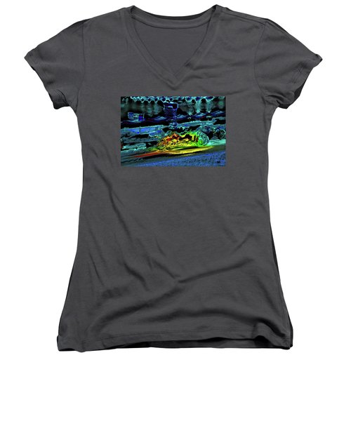 Abstract Carriage Ride Women's V-Neck