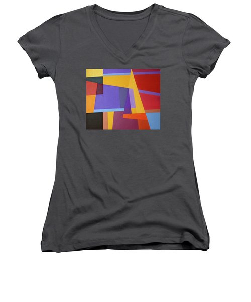 Abstract Composition 7 Women's V-Neck (Athletic Fit)