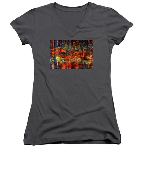 Abstract Evening Women's V-Neck