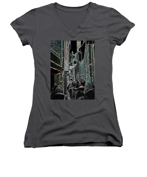 Abstract  Images Of Urban Landscape Series #12b Women's V-Neck