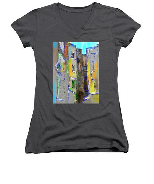 Abstract  Images Of Urban Landscape Series #13 Women's V-Neck