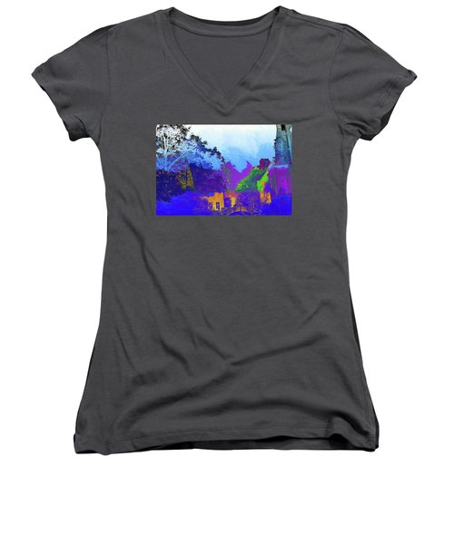 Abstract  Images Of Urban Landscape Series #8 Women's V-Neck