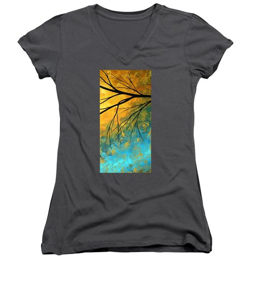 Abstract Landscape Art Passing Beauty 2 Of 5 Women's V-Neck (Athletic Fit)