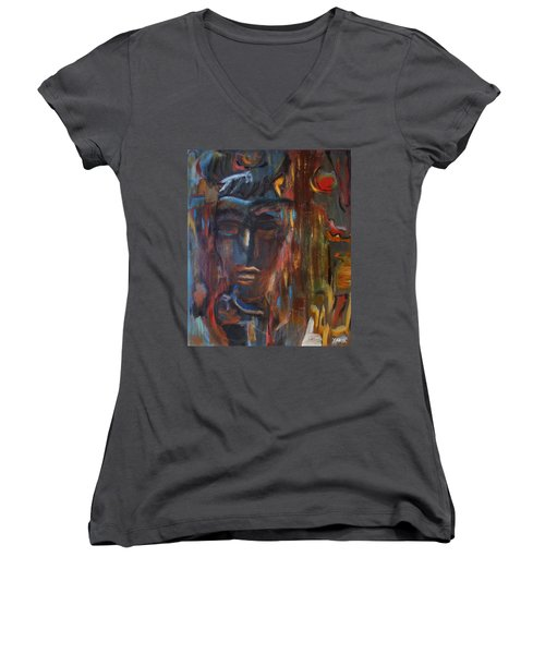 Abstract Man Women's V-Neck