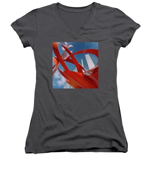 Abstract - Oklahoma City Women's V-Neck