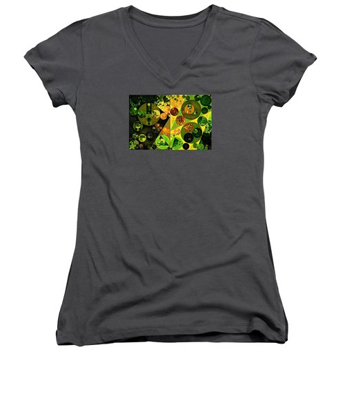 Abstract Painting - Barberry Women's V-Neck (Athletic Fit)