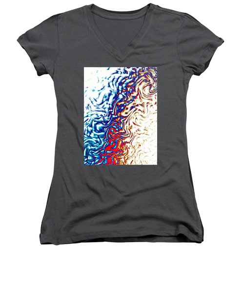 Abstract Photography 002-16 Women's V-Neck