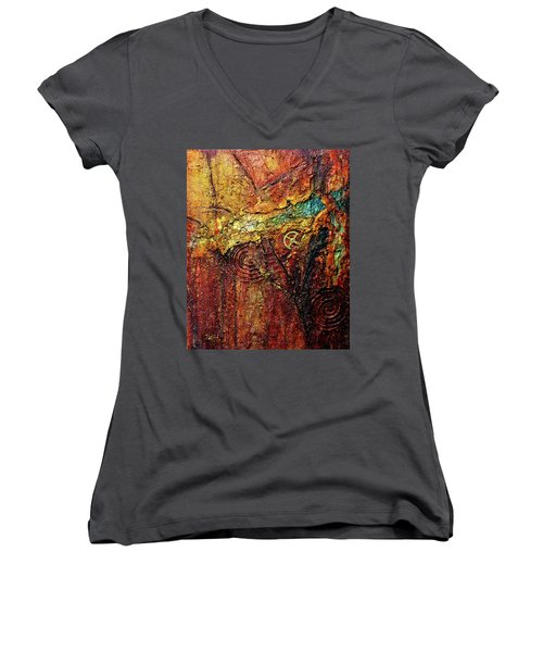 Abstract Rock 2 Women's V-Neck
