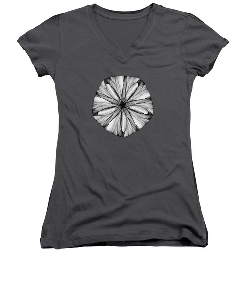 Abstract Sand Dollar Women's V-Neck (Athletic Fit)