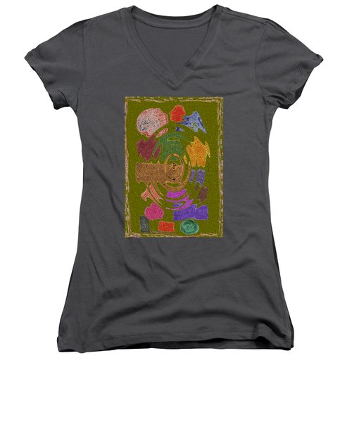 Abstract Shapes Women's V-Neck T-Shirt