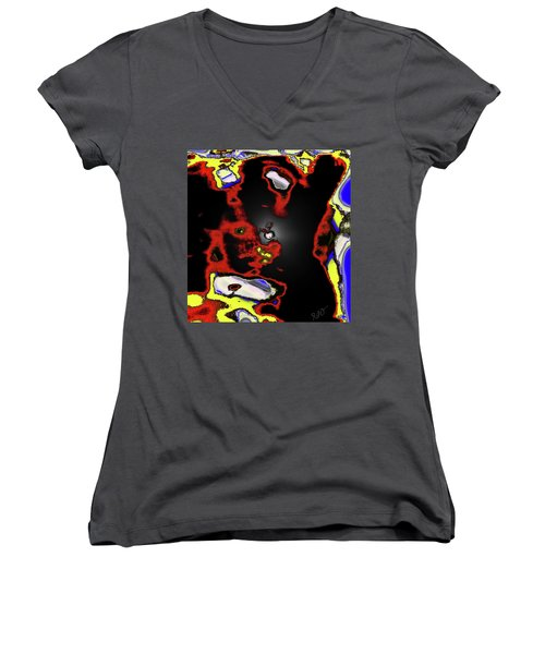 Abstract Shell Creature Women's V-Neck T-Shirt (Junior Cut) by Gina O'Brien