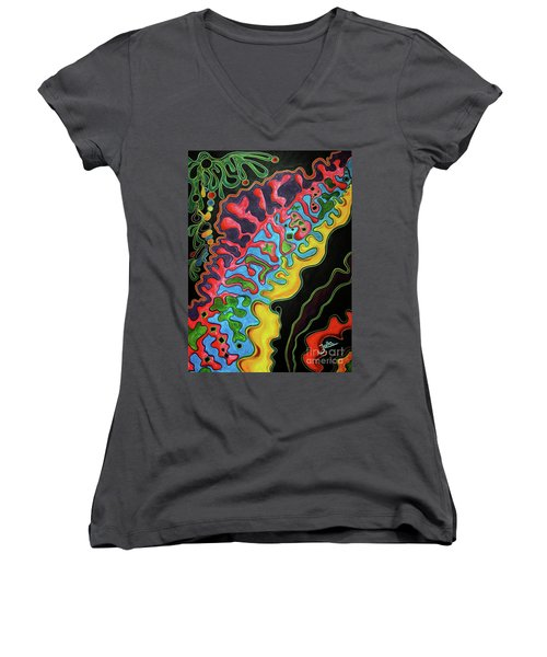 Abstract Thought Women's V-Neck T-Shirt