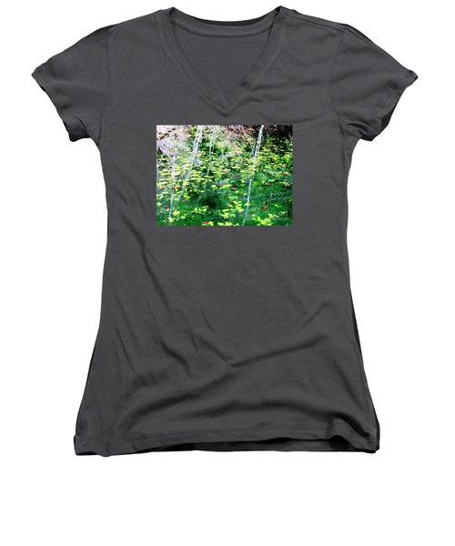 Abstract Water Women's V-Neck T-Shirt (Junior Cut) by Melissa Stoudt